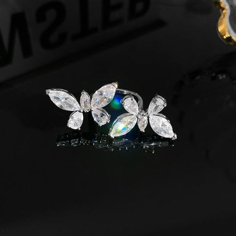 Butterfly-Shaped Adjustable Ring / Chain - 2021 New Jewelry For Women HahaGet
