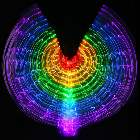 Rainbow Wings - Led Butterfly Costume HahaGet
