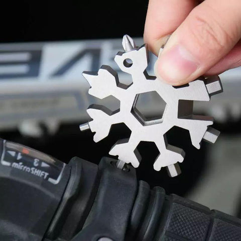 18 in 1 stainless steel snowflakes multi-tool - HahaGet