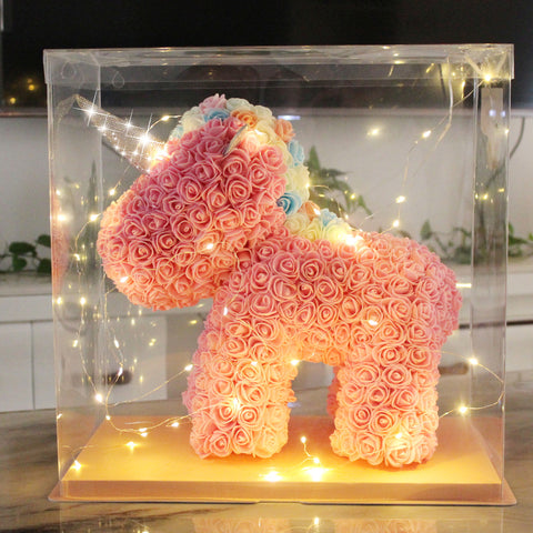Lovely LED Rose Unicorn Romantic Gift