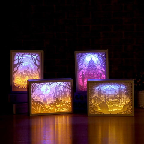 3D Paper Carving Night Lights - HahaGet