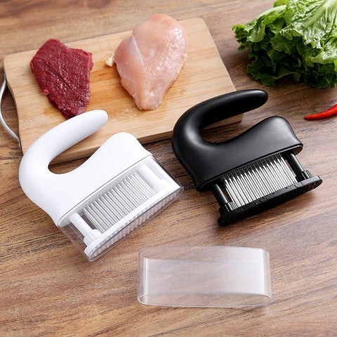 48 Blades Meat Tenderizer Tool | Stainless Steel Knife Meat Beaf Steak Mallet - HahaGet