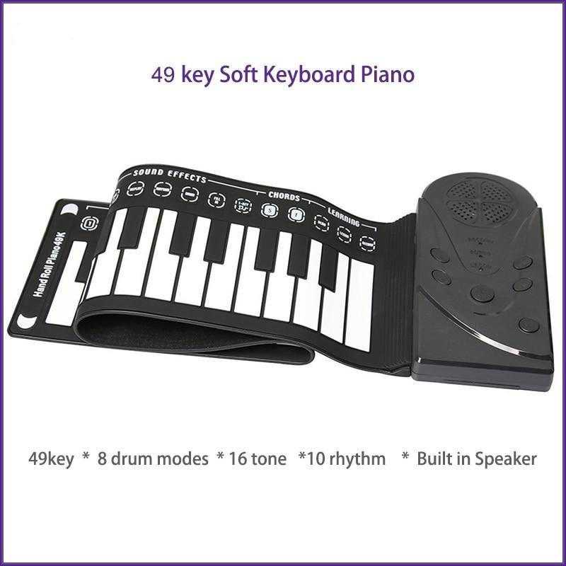 49 Keys Portable Roll Up Floding Piano-Creative Gifts - HahaGet