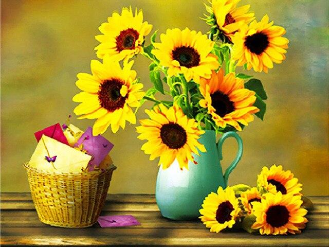 5D DIY Diamond Painting Sunflowers - HahaGet