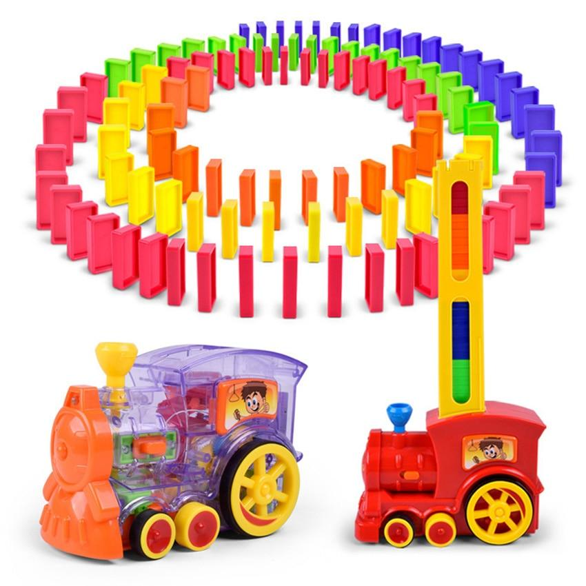 Automatic Laying Domino Brick Train Car Set Children S Educational Toy