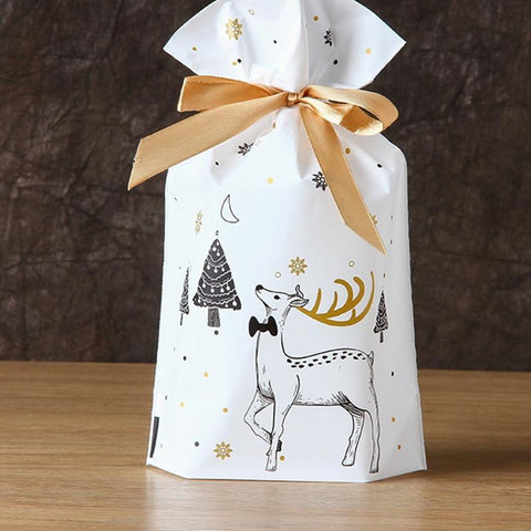Christmas Gift Bags With Drawstring 10pcs - HahaGet