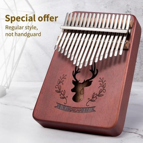 Kalimba 17 Keys Mahogany Body Thumb Piano - HahaGet