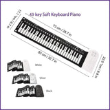49 Keys Portable Roll Up Floding Piano-Creative Gifts
