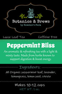 Peppermint Bliss (loose leaf herbal tea blend)
