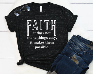 Faith makes things possible - Retired