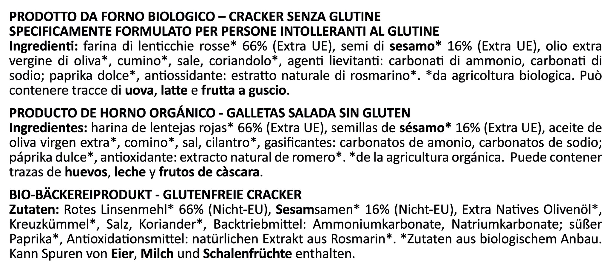 Legume Crunch di Lenticchie Rosse Biologico - Farmo - Eat a better life