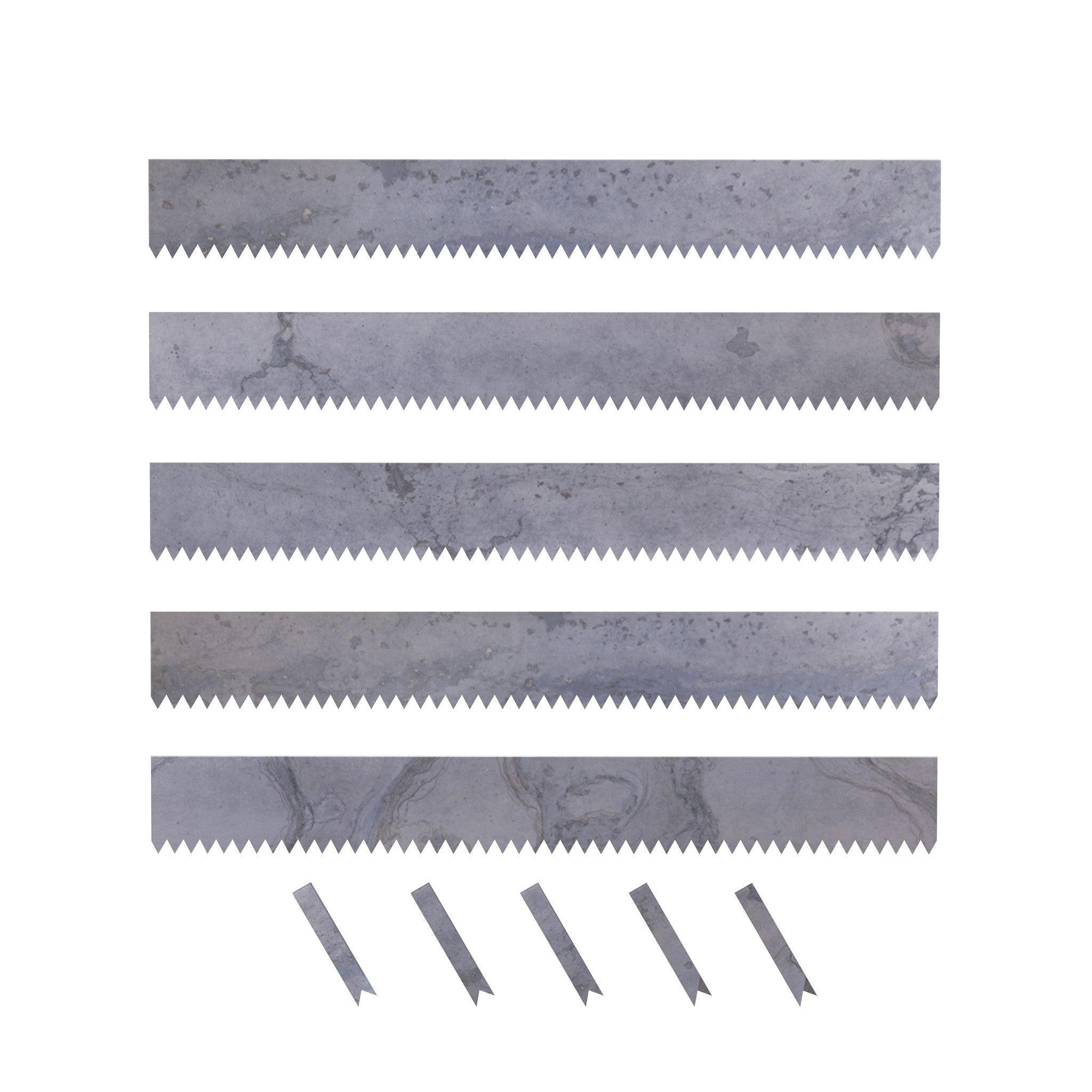 Hammer-In Landscape Edging - Cor-Ten Steel - 4ft Strips - Plus Connector Clips