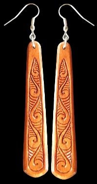 Carved Wooden Earrings
