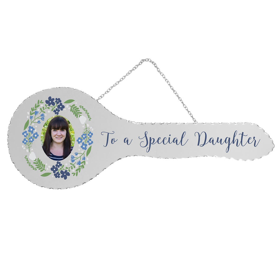 Mirrored 21st Key - To A Special Daughter