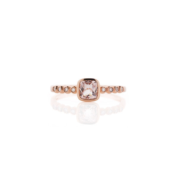 Morganite & Diamond Ring (rose gold)
