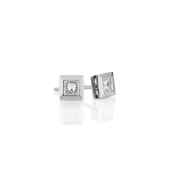 Diamond Earring Studs -9ct White Gold (0.20ct G-H SI-I1)