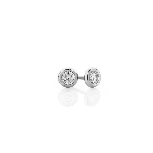 Diamond Earring Studs - 9ct White Gold (0.30ct TDW G-H SI-I1)