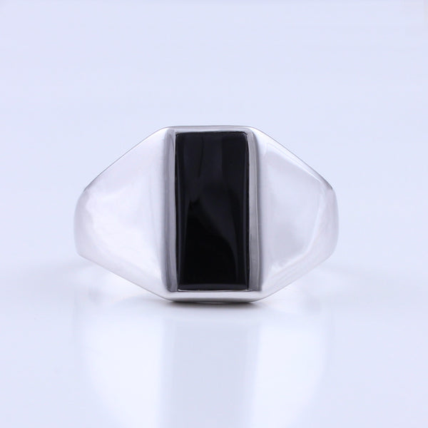 Mens Silver Signet Ring