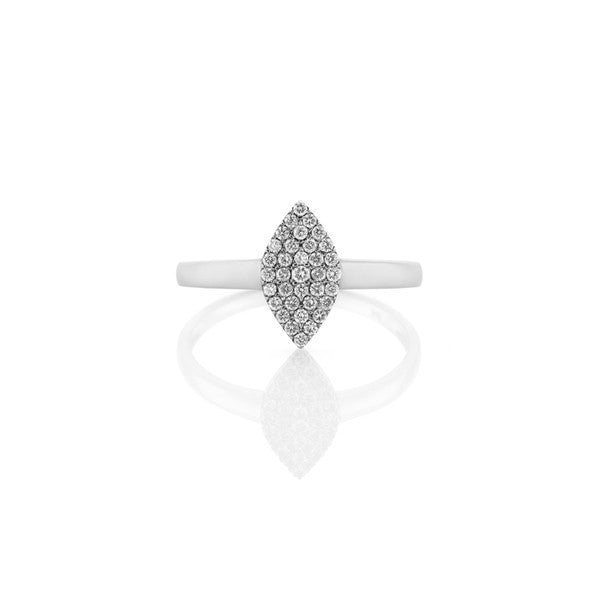 Diamond Marquise Cluster Ring (white gold)