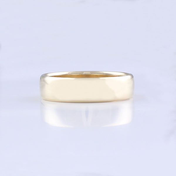 Mens Yellow Gold Dress Ring