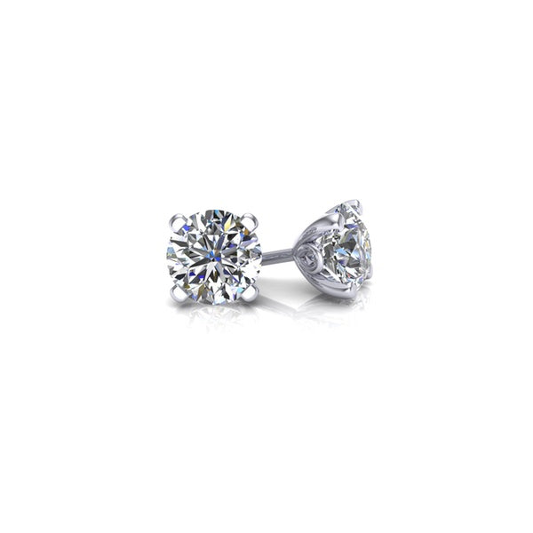 Diamond Earring Studs - 2.00 ct (18ct white gold, 2.00ct TDW, H SI2, EX-VG)