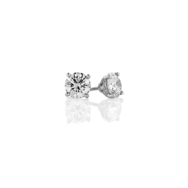 Diamond Earring Studs - 18ct White Gold (1.40 ct TDW, D-E SI1-SI2)