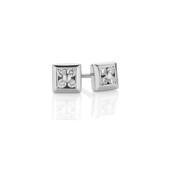 Square Diamond Earrings (white gold)