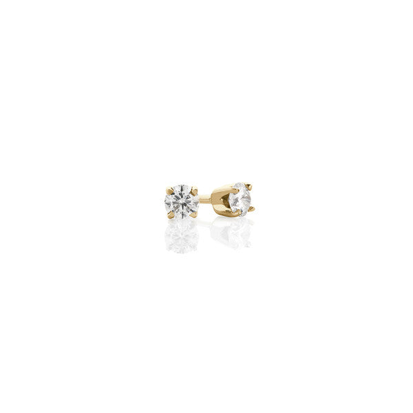 Diamond Earring Studs - 0.18 ct (yellow gold)