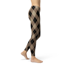 Load image into Gallery viewer, Beige Argyle Leggings