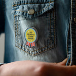 You Are Awesome Blue And Yellow Rosette Affirmation Pin