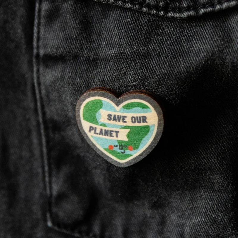 A Trio Of Saving The Planet Positivity Pins