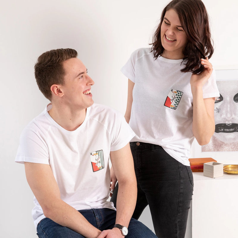 King And Queen Playing Cards T Shirt Set