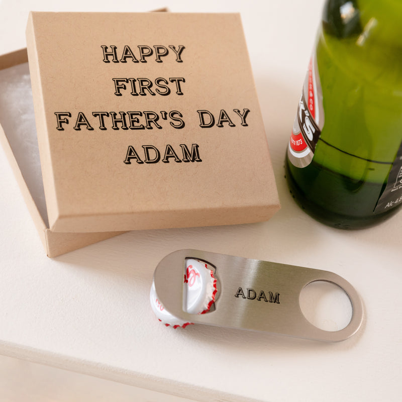 Personalised Beer Bottle Opener and Gift Box