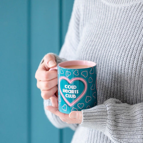 Cold Hearts/Warm Hearts Retro Inspired Mug