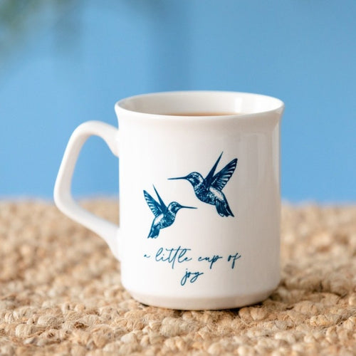 Personalised A Little Cup Of Joy Hummingbird Mug