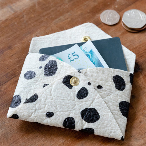 Piñatex Dalmatian Print Card Holder