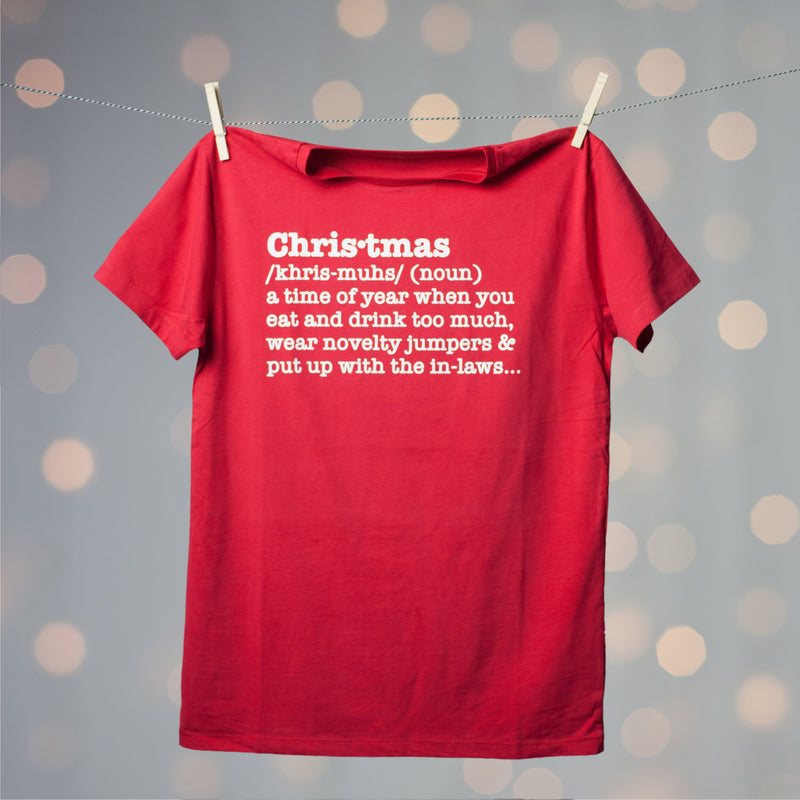 Christmas Definition Adults T Shirt - Funky Laser
