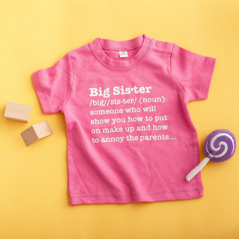 Big Sister Definition T Shirt - Funky Laser