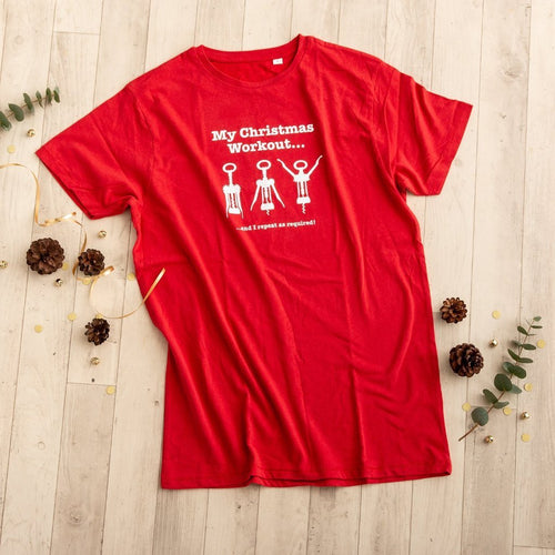 Christmas Workout T Shirt - Funky Laser
