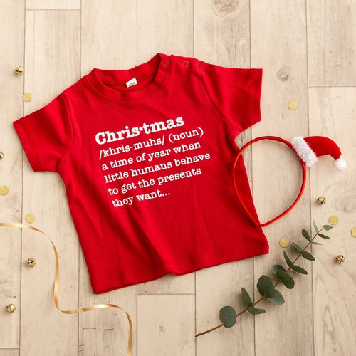 Christmas Definition Kids T Shirt - Funky Laser