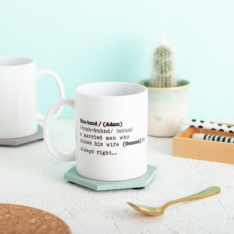 Personalised Husband Definition Mug Gift - Funky Laser