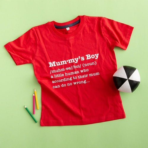 Mummy's Boy Definition T Shirt - Funky Laser
