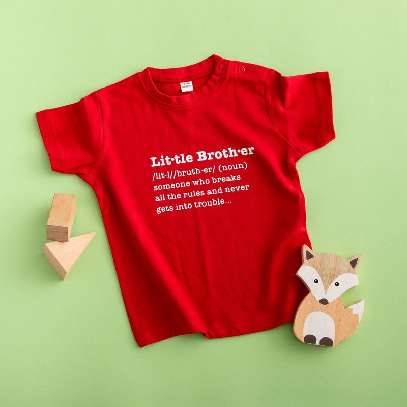 Little Brother Definition T Shirt - Funky Laser