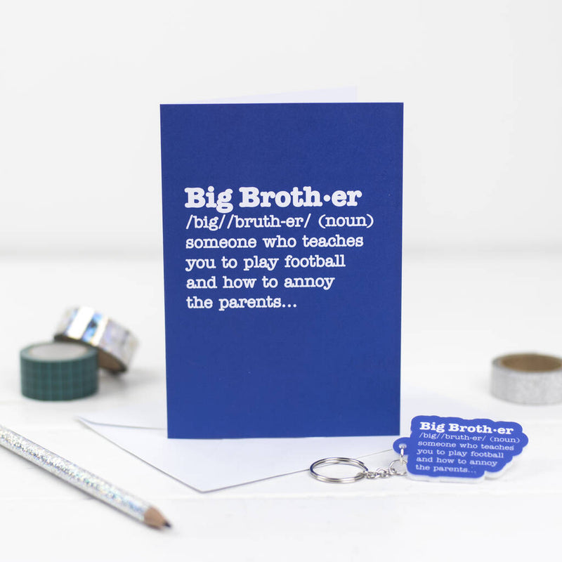 Big Brother Definition Card With Matching Keyring