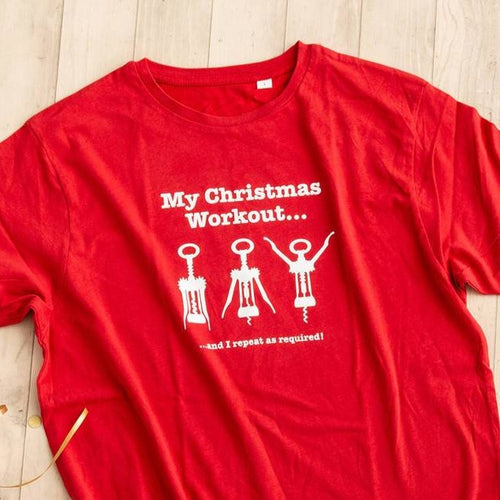 Christmas Workout T Shirt