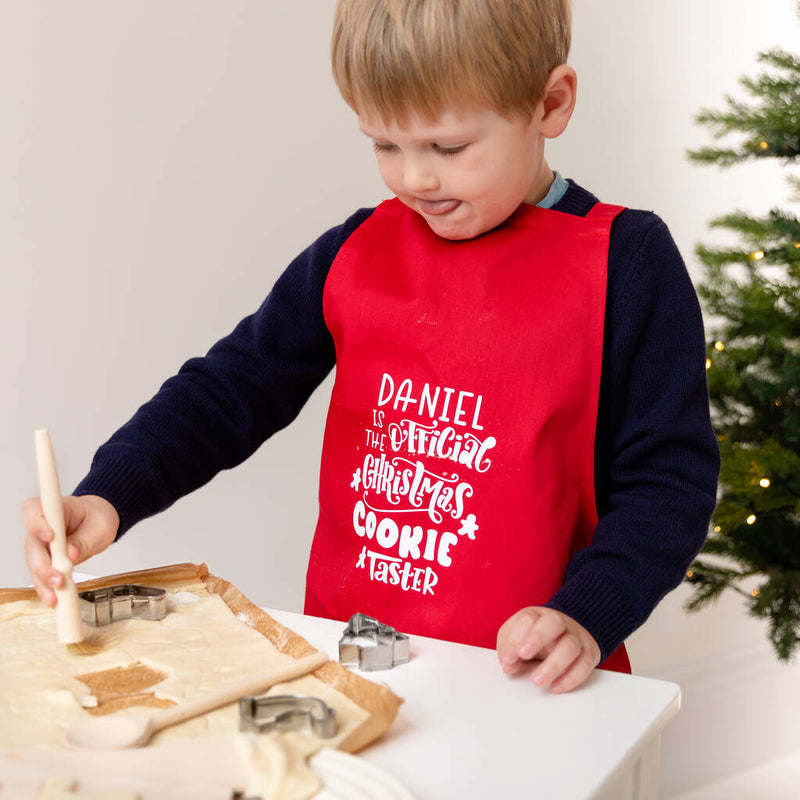 Personalised Red Christmas Baking Activity Gift Set