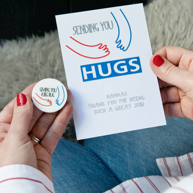 Sending You A Hug Personalised Card And Token