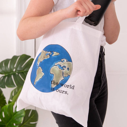The World Is Ours Globe Tote Bag