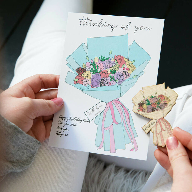 Thinking Of Your Flowers And Message Card
