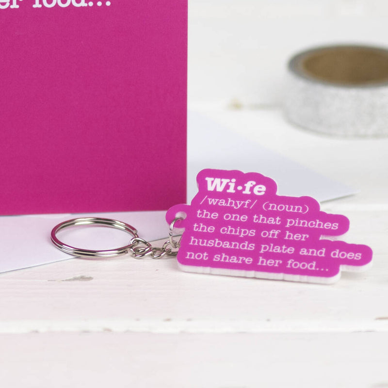 Wife Definition Card With Matching Keyring